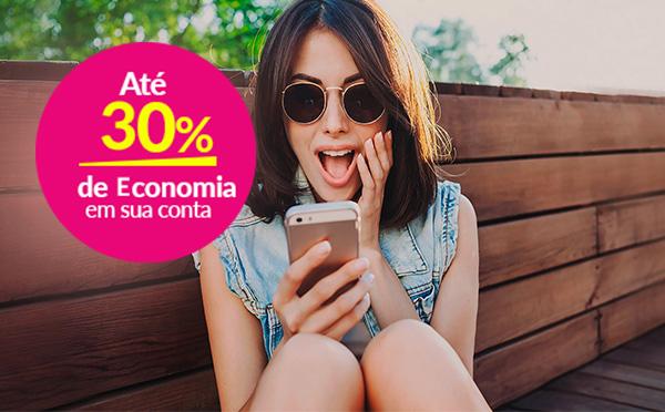 Até 20% de economia em sua conta de celular